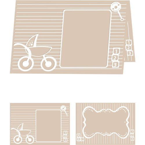 Craftwell USA Baby Blocks Embossing Folder, 8.27 by 11.69-Inch