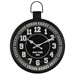 XSWZAQ Vintage Pocket Watch Wall Clock - Classic Outdoor/Interior Design, Large 12-inch Face. Suitable for Gardens, Kitchens, Bathrooms, Etc. (Color : D)