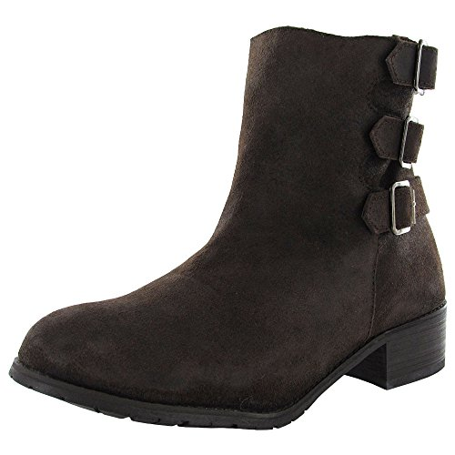 BooRoo Womens Jules Wool Lined Suede Ankle Boot Shoe, Brown, US 9 -