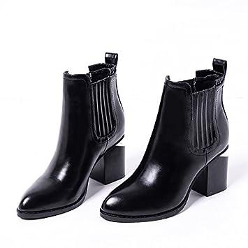 GTVERNH-El otoño y el invierno Gap rough talon señaló corto botas botas altas botas