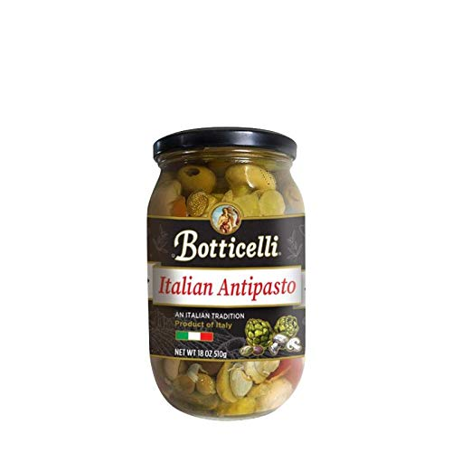 (Botticelli Italian Antipasto. Gourmet Mix of Sweet Peppers, Artichokes, Olives, Mushrooms, Onions and Capers with Delicious Spices. Imported from Italy (18oz/510g))
