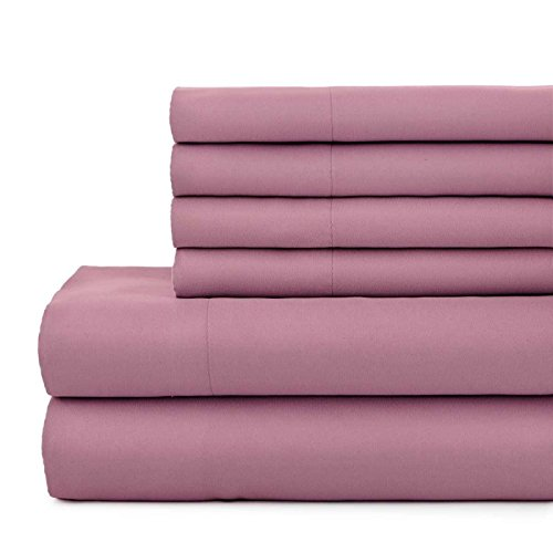 Southshore Essentials - 6 Piece Brushed Microfiber Sheet Set, Queen Size, Rose