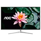 AOC U4308V 43' 4K UHD Monitor, 1+ Billion Colors IPS Panel, 124% sRGB/ 109% NTSC, 2xHDMI/DP/VGA, PIP/PBP, USB 3.0 hub, VESA, Speakers