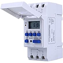 Qianson DIN Rail Mounting DC 12V 16A Digital LCD Display Programmable Control Counter Time Timing Timer Relay Switch