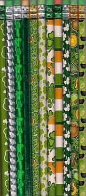 classroom set of St. Patrick's day shamrock pencils for kids
