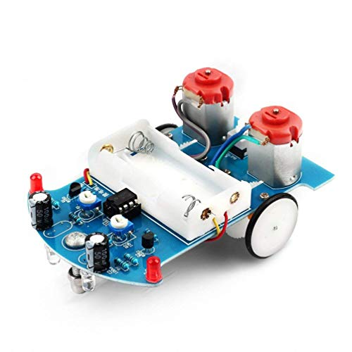 ering Project Kits Line Following Robot Kids DIY Electronics Education School Competition ()