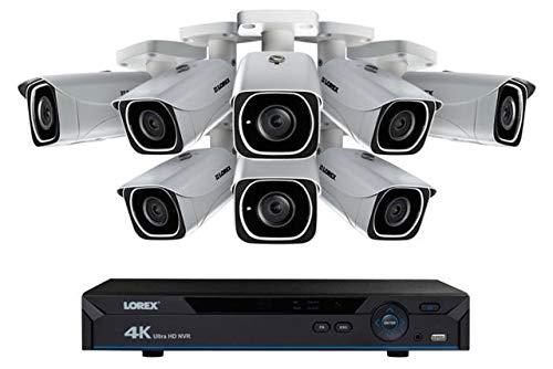 Lorex LNR6100 8-Channel 4K UHD NVR with 2TB HDD and 8X LNB8005 Night Vision Bullet IP Cameras