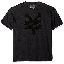 Zoo York Men's Short Sleeve Cracker Crew T-Shirt, Black Heather, Medium