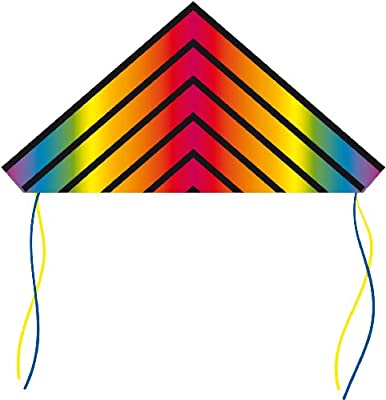 HQ Kites and Designs HQ 53-Inch Delta Kite (Radient Rainbow)
