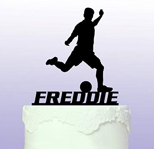 Personalised Footballer Cake Topper - Football by Tamengi