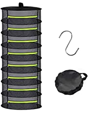 ZDZBLX 2ft Herb Drying Rack, Dry Net Drying Rack Herbs for Plant Seeds, Hanging Mesh Dryer Folding Drying Net with Green Zipper for Herbs, Flowers, Buds, Plants,Round Mesh Hanging Net