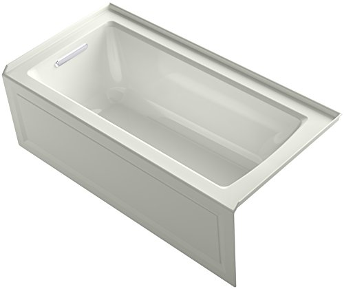 Integral Tile - KOHLER K-1946-LA-NY Alcove Bath with Integral Apron, Tile Flange and Left Hand Drain, 60
