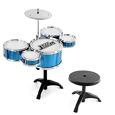 Children's Drum Set, Jazz Drum, Percussion Music Instrument, Early Education Puzzle for Kid/Junior Over 3 Years Old : Baby