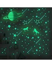 Hand Painted Saturn Luminous Star Pegasus Wall Sticker ,Children's Beautiful Room Decoration Luminous Wall Decals