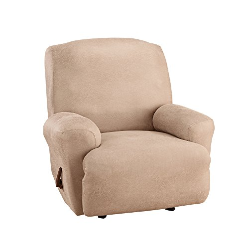 Sure Fit Ultimate Heavyweight Stretch Leather Recliner Cover - Rustic Birch (SF45279)