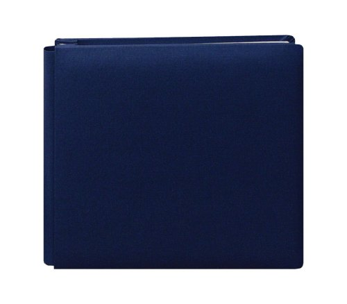 (Pioneer 12-Inch by 12-Inch Family Treasures Deluxe Fabric Postbound Album, Midnight Blue )