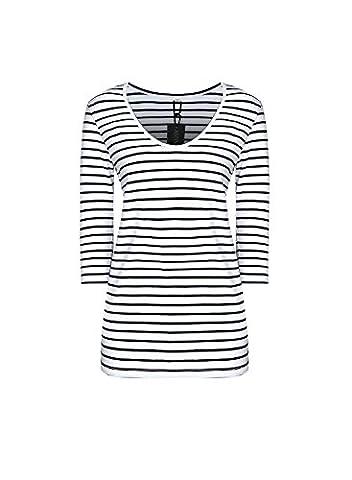 REMASIKO Wome's V Neck Striped Tunic Tops Blouse Casual T-shirt Dress Stripe - Casual Stripe Pattern Shirts