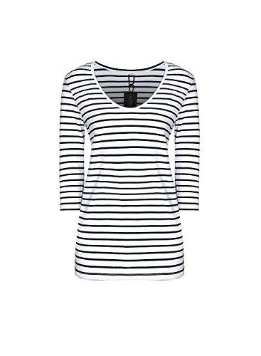 Stripe V-neck Tunic Top (REMASIKO Wome's V Neck Striped Tunic Tops Blouse Casual T-shirt Dress Stripe)