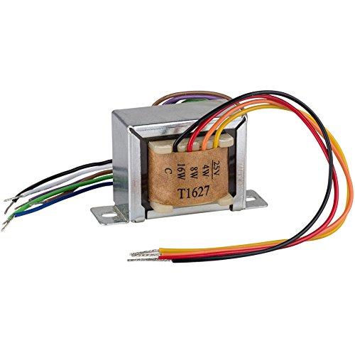 Factory Buyouts T1627 16 Watt 25V/70V Speaker Line Matching Transformer