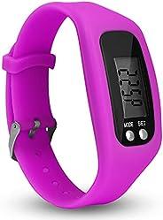 OWEMKIT Pedometer Watch Simple Operation Walking Fitness Tracker Wrist Band Digital Step Counter