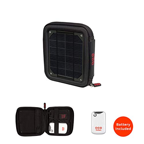 Voltaic Systems Milliamp Portable Solar Charger with Battery Pack (4,000mAh) - Charcoal ()