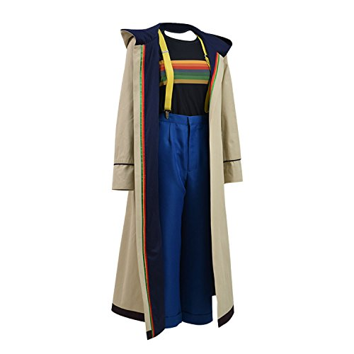 Adults 13th 12th 11th Doctor Series Coat Costume for Halloween (Women L, 13th fullset)