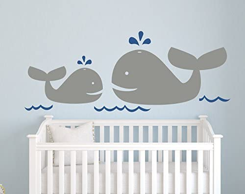 Nautical Mom and Baby Whale - Popular products Nurser Decal lowest price Wall Decor