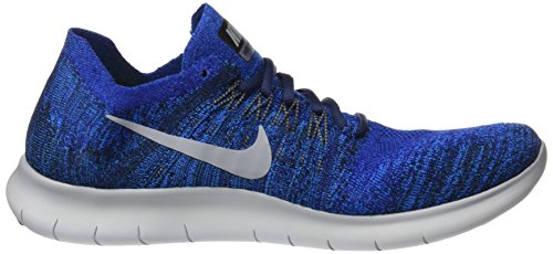 RN Royal Blue Shoes Mens M 9 5 Running Deep Free Grey NIKE Flyknit Wolf 2017 vZfqEw