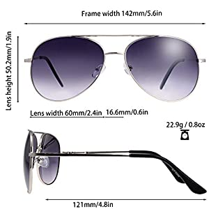 The Fresh Classic Large Metal Frame Aviator Sunglasses - Exquisite Packaging