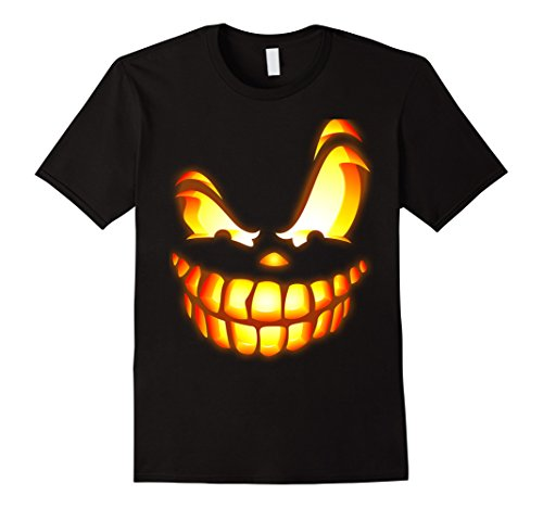 Scary Halloween Customes (Mens Scary Face Halloween T Shirt, Scary Halloween T Shirt XL Black)