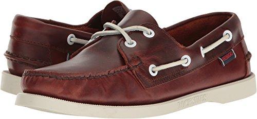 (Sebago Women's Dockside Boat Shoe Brown Oiled Waxy Leather 5 M US)