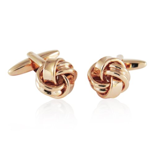 Cuff-Daddy Rose-Gold Tone Knot Cufflinks