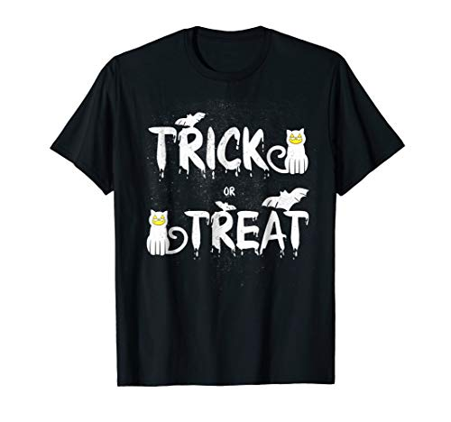 Trick Or Treat Black Cats And Bats Scary Halloween -