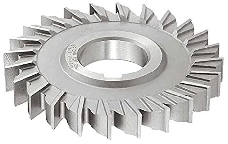 KEO Milling 01140 Staggered Tooth Milling Cutter,S Style Standard Cut 18 Teeth 1-1//8 Width Uncoated Coating 1-1//4 Arbor Hole 4 Cutting Diameter HSS