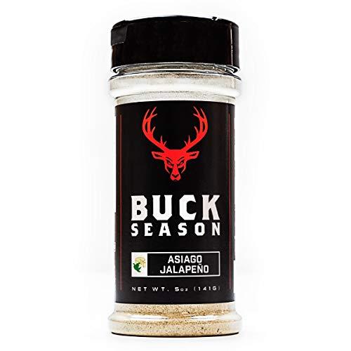 Buck Season - Low Sodium, No MSG, Gluten Free, All Natural, Gourmet Healthy Meal Prep Seasoning (Asiago Jalapeño) (Best Meal Prep Seasoning)