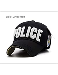 MKJNBH Children Police Baseball Cap Kids Boys Girls Hats Casual Cotton Letter Sports Caps Adjustable Hip Hop Sun