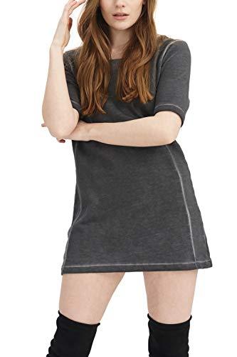 trueprodigy Casual Damen Marken Sweatshirt lang einfarbig Basic Oberteil Cool Stylisch Rundhals Halbarm Slim Fit Sweatkleid für Frauen