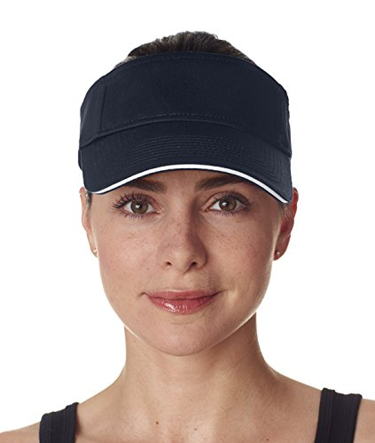 Twill Cotton Sandwich Brushed (ULTRACLUB 8113 UltraClub Classic Cut Brushed Cotton Twill Sandwich Visor 811...)