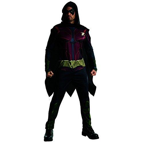 Rubie's Costume Men's Batman Arkham City Adult Robin, Multicolor, (Costumes Robin)