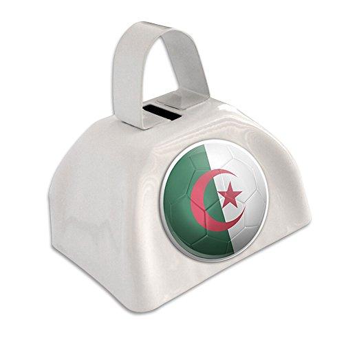 Algeria Flag Soccer Ball Futbol Football White Cowbell Cow Bell