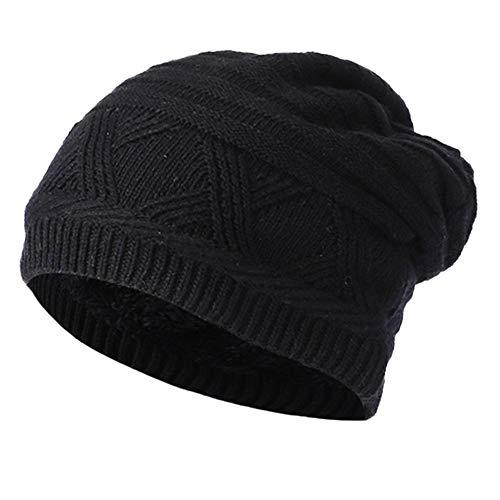 URIBAKE ❤ Unisex Baggy Crochet Beanie Fleece Padded Winter Warm Knitted Ski Skull Slouchy Caps Hat -