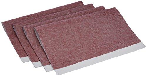 Blue Alcove Melange 4 Piece Placemat Set – Pink and White (SGTB-20-1)