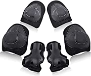 Wemfg Kids Protective Gear Set Knee Pads for Kids 2-8 Years Toddler Knee and Elbow Pads with Wrist Guards 3 in