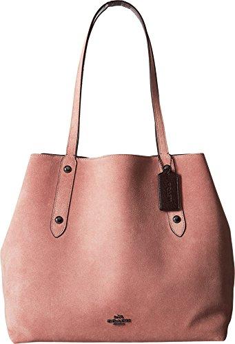 COACH Women's Suede Large Market Tote Dk/Dusty Rose Oxblood Handbag by Coach