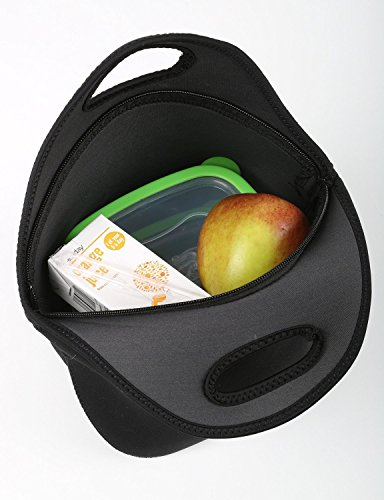 Snoogg I Love You lila Muster Travel Outdoor Tragetasche Lunch Bag Picknick Tote Box Container Reißverschluss abnehmbarer Carry Lunchbox Griff Tote Lunch Tasche Food Bag für Schule Arbeit Büro