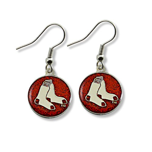 MLB Boston Red Sox Glitter Dangler Earrings