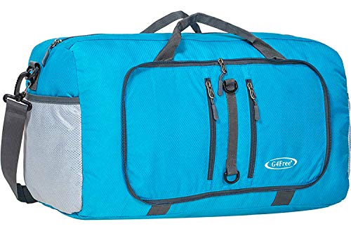 G4Free Foldable Travel Duffle Bag Lightweight 22 Inch for Luggage, Sports, Gym(Blue) -
