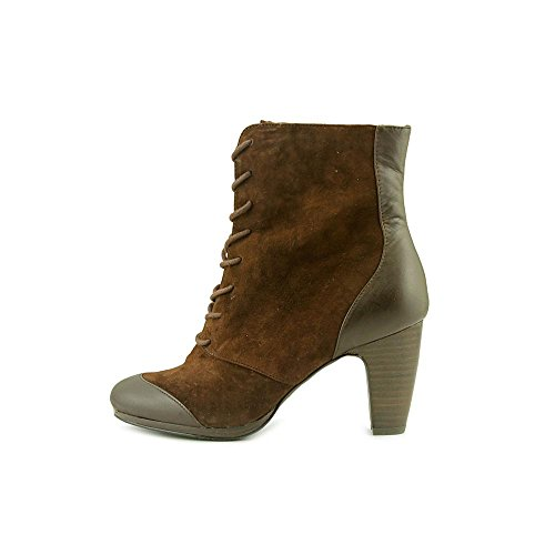 Luca Brown Foxy Womens Boots Zoe Cap Dark Toe Suede Fashion Ankle pUad1w16qK