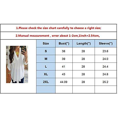 Blusa Prodotto Manica T Elegante Di Shirts 3 V Stile 4 neck Solidi Colori Camicetta Marca Plus Bianca Donna Modern Primaverile Mode Lunga Nero Autunno Hipster Top FUFwd7