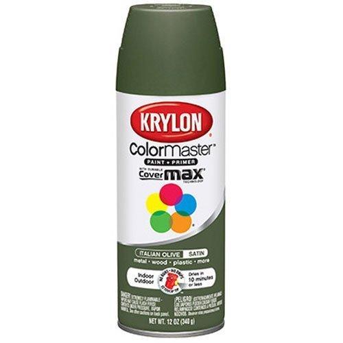 Krylon Satin Touch Spray - Krylon 53522 Italian Olive 'Satin Touch' Decorator Spray Paint - 12 oz. Aerosol by Krylon